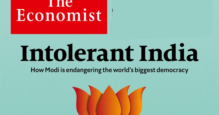 "The Economist entitled India ""Intolerant"" on its cover page"