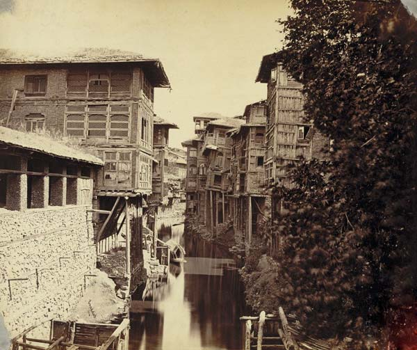 The erstwhile Nalla Mar, a canal that crisscrossed the old Srinagar, it was filled up recently to pave way for a road.