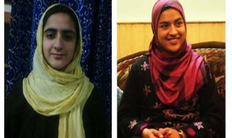 10th Class Toppers Iqra Bashir(L) and Samma Malik(R)
