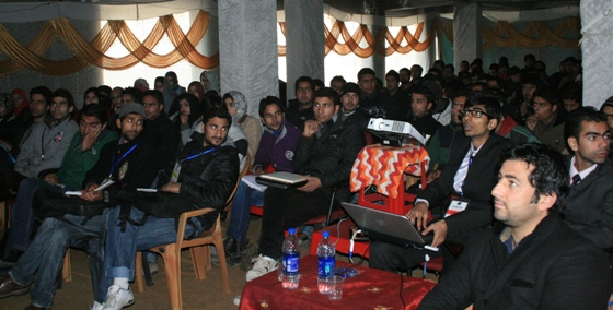 Participating students at a 4 Day Live Training Workshop in Srinagar