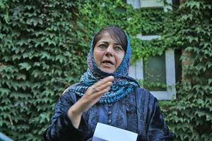 Mehbooba Mufti: I wish it doesn't consume another generation of Kashmiri youth but one cannot wish away the apprehension