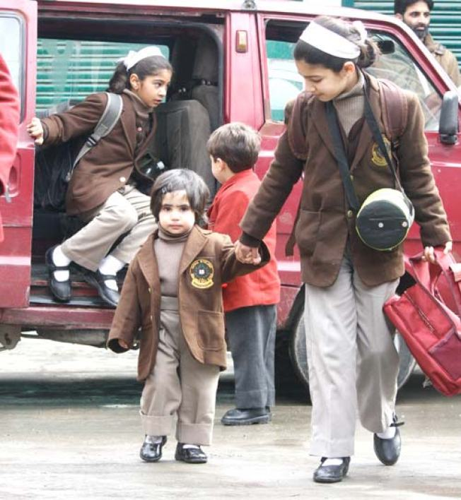 New admissions at private schools have increased manifold in Kashmir valley over the last few years. Pic: Bilal Bahadur