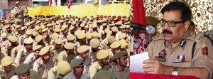 DGP Prasad addressing a police durbar at district police lines.