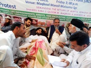 Chairman JKLF, Mohammad Yasin Malik in 48 hrs long hunger strike with civil society members and JKLF activists