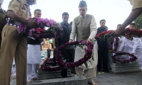 Garlanding Graves: The other day people heard him saying: 'Martyrs of July 13 laid their lives to uphold this principle of natural justice and democracy.' Will Omar Abdullah's floral tribute invoke the spirit of his words in strife-stifle place? Many have crossed their fingers, your Highness!