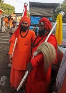 Sadhus Taking Charri Mubarak to Pahalgam. Photo: Bilal Bahadur