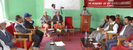 A view of seminar on local languages of Kargil-14