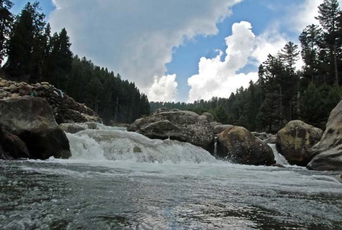 Yusmarg has a great scope for adventure tourism. Doodganga a river flows through this meadow.