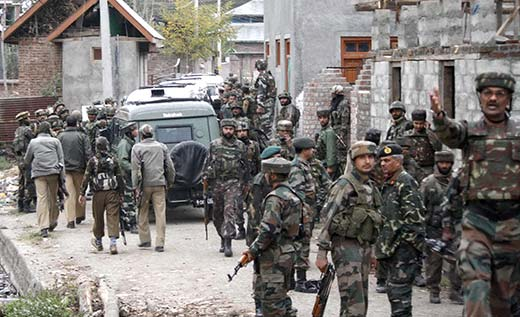 File picture of an encounter site in South Kashmir