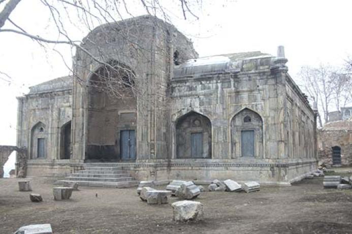 Mulla Akhoon Shah Mosque, Srinagar. Pic: Bilal Bahadur