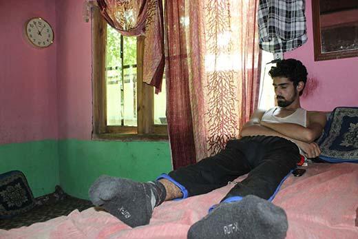Jan Mohammad dreams of days when he would walk. Pic: Ahmad Mukhtiyar