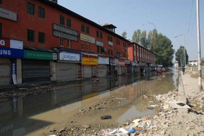 A view of Lal chowk from Press Enclave. Photo: Bilal Bahadur.