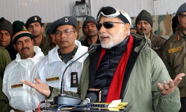Modi during his Siachin visit.