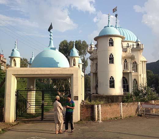 A scene of Jamia Masjid in Rajouri district.