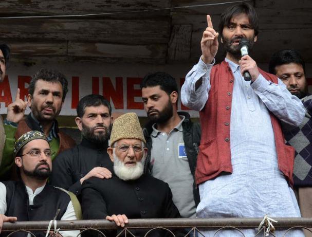 Mirwaiz, Geelani and Malik at Suhail Sofi's Residence.