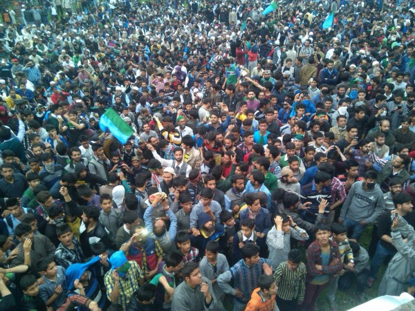 Thousands turned up to welcome Geelani