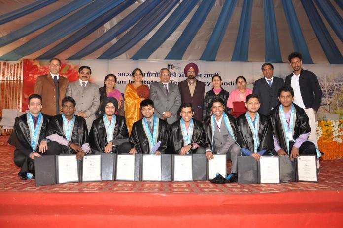 Athar Aamir-ul-Shafi Khan (Sitting row extreme left) attending his final convocation at IIT Himachal Pradesh.