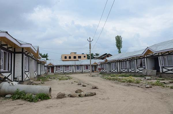 An inside view of leper colony in Srinagar.