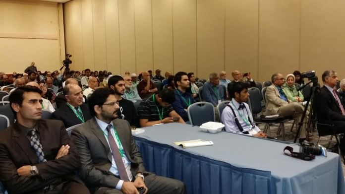 A view of the audience during 52nd Annual Convention of Islamic Society of North America (ISNA), held in Chicago USA on Tuesday.