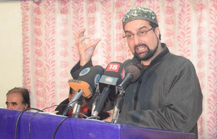 Mirwaiz Umar Farooq Speaking in the seminar. (File KL Image)