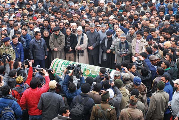 Funeral prayers of former CM, Mufti Mohammad Sayeed, who breathed his last on January 07, 2015 in AIIMS, New Delhi.