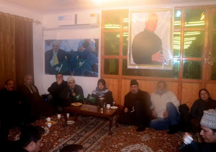 PDP held a party meeting on Sunday at Muftis' Fairview residence. KL Image: Mehbooba Mufti