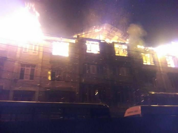 Darul Uloom on Fire in Shah Faesal Colony