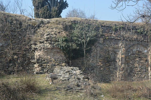 Archaeologically significant walls of the park are crumbled into ruins.