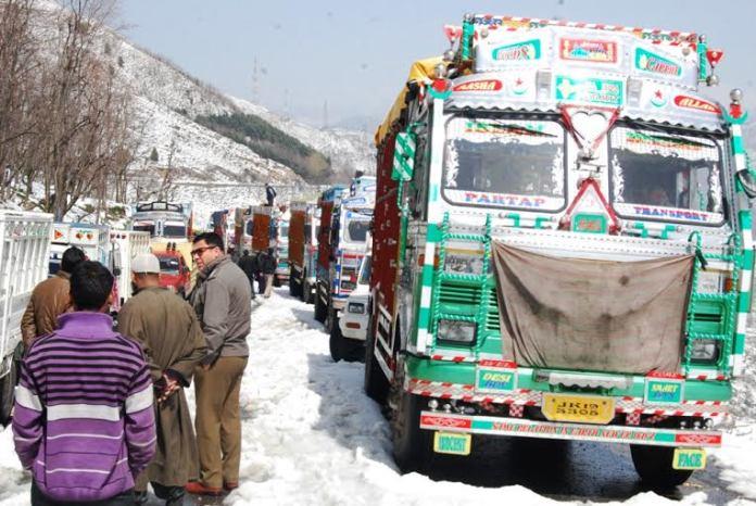 Closed Srinagar-Jammu highway. (KL file Image: Shah Hilal)