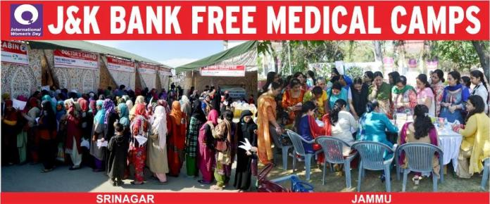 J&K Bank's twin medical camps.