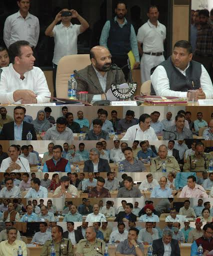 J&K Health Minister, Bali Bhagat, chaired DDB meet of Kishtwar on May 17, 2016. (KL Image: Information Department)
