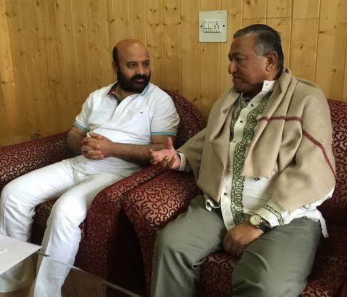 Bangaldesh Press Minister in its Delhi HC with JK Health Min Bali Bhagat on May 24, 2016