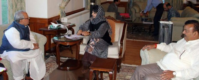 CM Mehbooba Mufti with Union MSME Minister on May 07, 2016