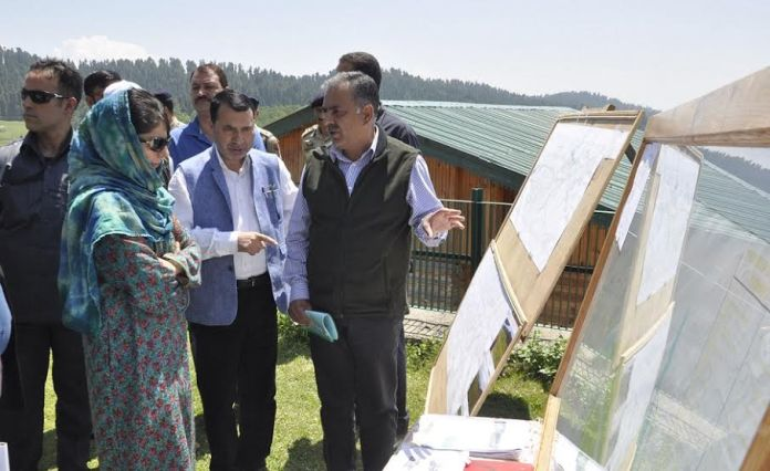 CM Ms Mehbooba Mufti in Yusmarg on May 29, 2016.