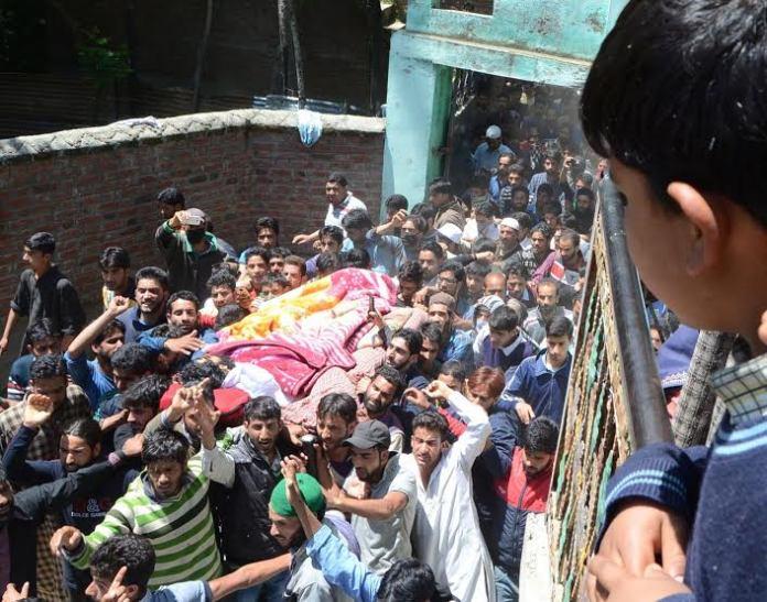 Farooq Ahmad Sheikh Funeral on May 17, 2016 photo by Bilal Bahadur 3
