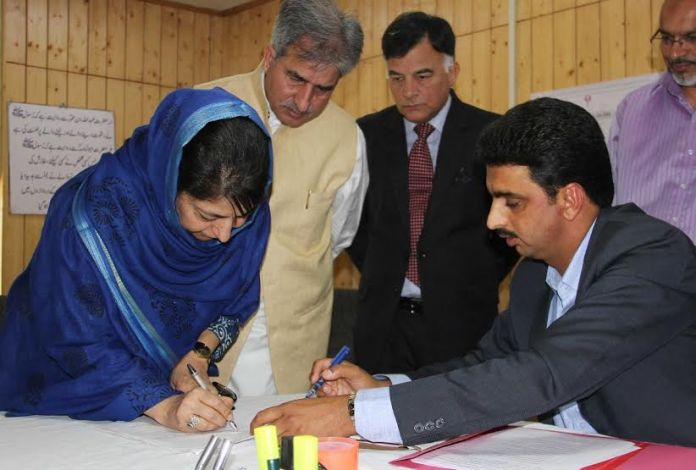 Ms Mehbooba Mufti filed her nomination papers for the sweat on June Ist 2016.