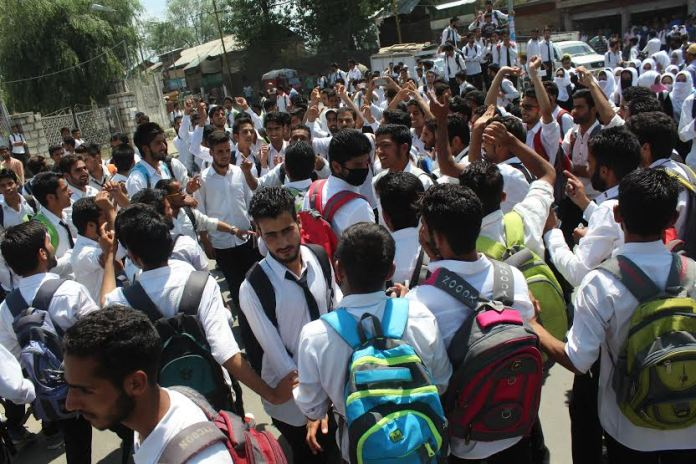 Students Protesting against fee hike