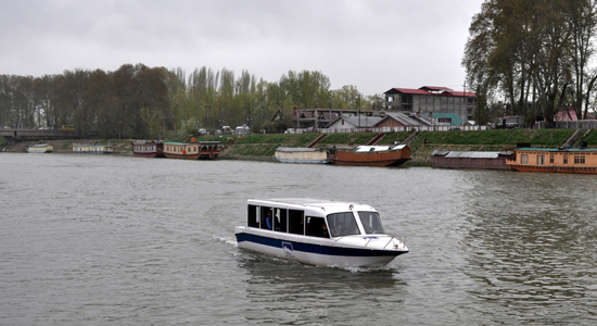 SRINAGAR: A Cruise paddles in the waters of Jhelum river in Srinagar . The Cruise starts its service from the Peerzoo island and culminates at the Maharaj Gung bank of river Jhelum while covering some of the historical shrines and temples on its way. The Cruise service is being operated by Highland Journeys and visitors pay Rs. 350 per ride.  Photo/ Mohd Amin War