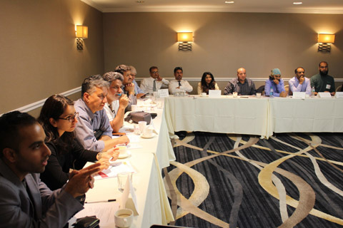 NRKs during a meeting in America.