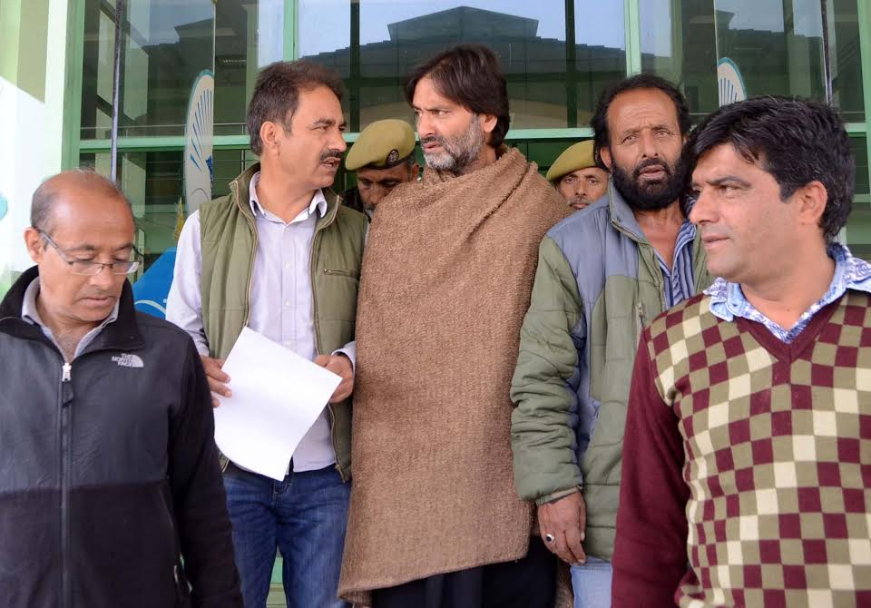 Image result for Ailing Yasin Malik Brought To Hospital, Shifted Back To Jail