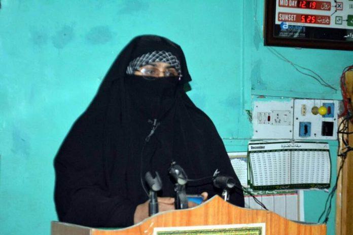 DeM secretary general Nahida Nasreen