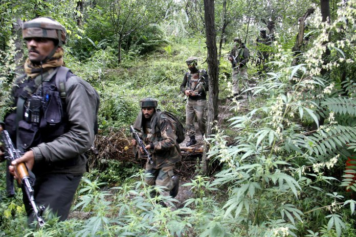 Army searching for militant hideouts somewhere in South Kashmir. Caveman in Folklore - Diary - Conflict - Issue 04 - Vol 10 - kashmir Life