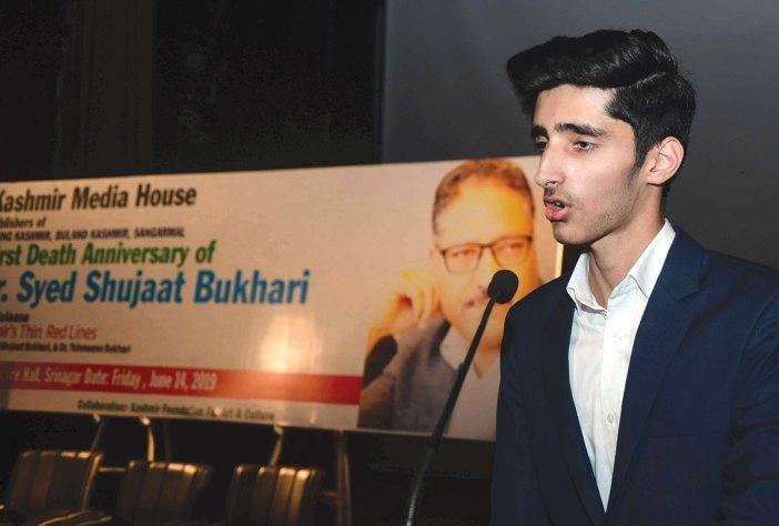 Shujaat's son Tamheed Bukhari