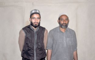 Faizan Ahmad Tunch with hus father Abdul Majeed Tunch. Fake Kaun banega crore pati