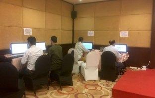 Inside view of media centre Srinagar.