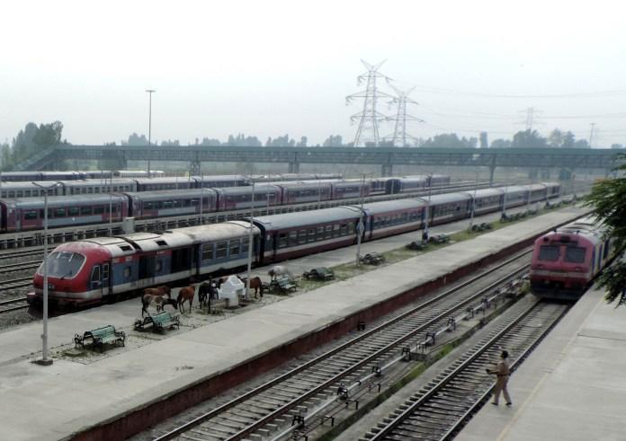Trains are suspended since August 5. KL Image: Bilal Bahadur
