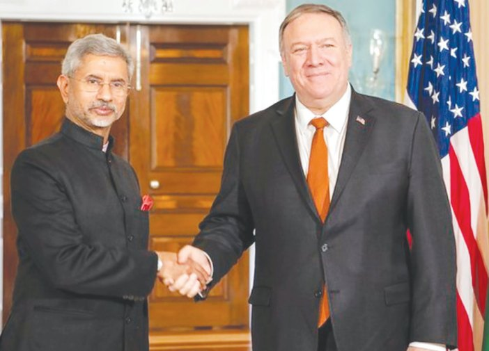 Foreign Minister S Jaishankar and US Secretary of State Mike Pompeo