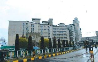 Outside view of SKIMS Srinagar.