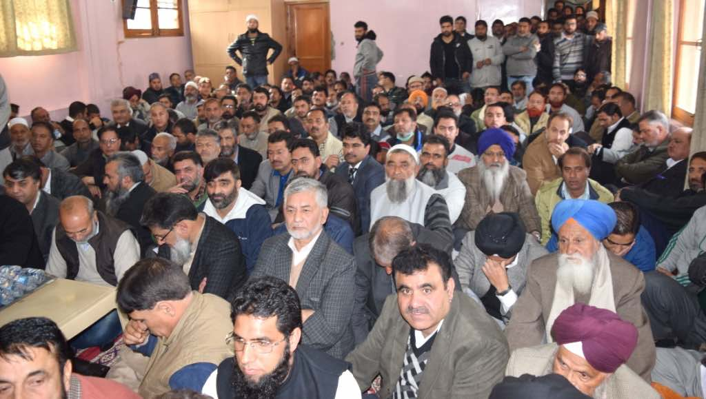 A cross-section of people attended the daylong meeting at Hyderpora