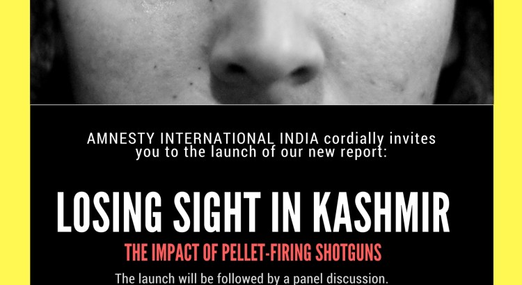Amnesty to release report on Kashmir's pellet victims